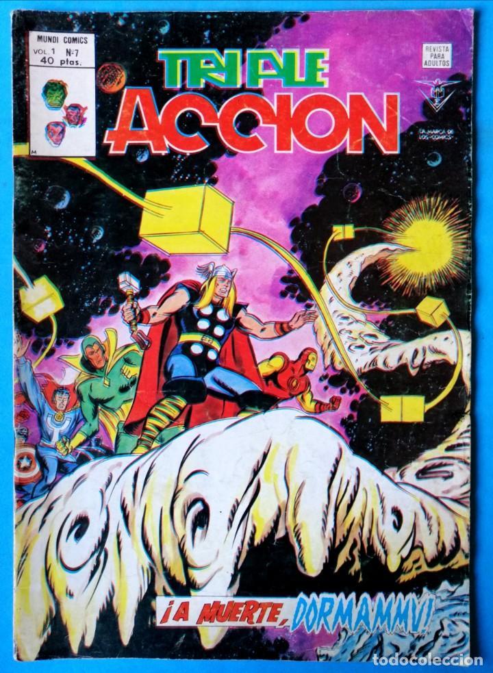 TRIPLE ACCIÓN - V.1 - Nº 7 - ¡ A MUERTE, DORMAMMU ! - VÉRTICE 1979 (Tebeos y Comics - Vértice - Otros)