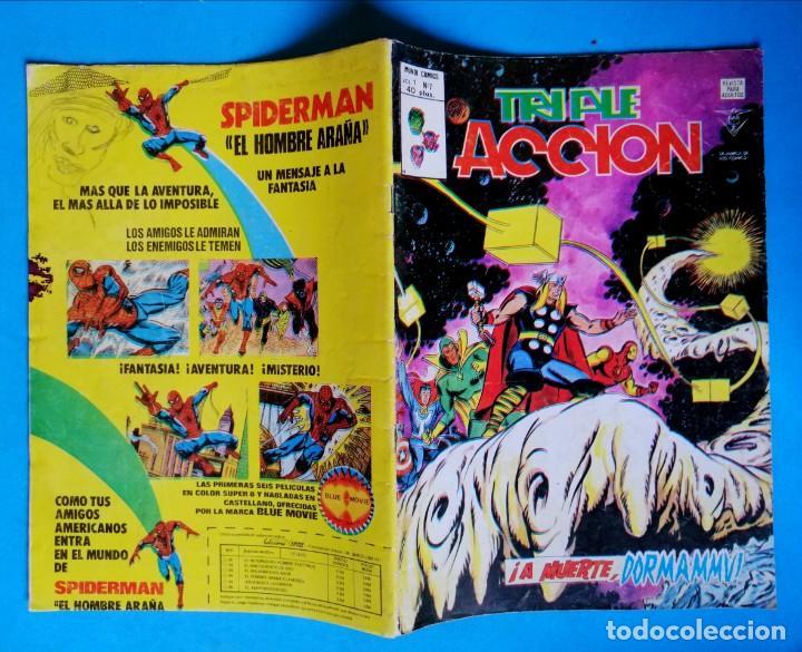 Cómics: TRIPLE ACCIÓN - V.1 - Nº 7 - ¡ A MUERTE, DORMAMMU ! - VÉRTICE 1979 - Foto 2 - 194333278