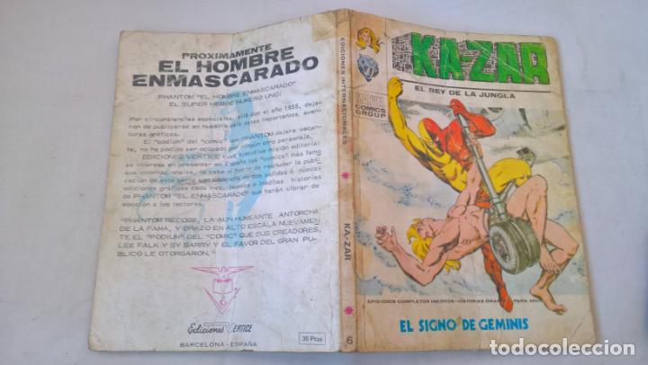 COMIC: KA-ZAR Nº 6. EL SIGNO DE GEMINIS (Tebeos y Comics - Vértice - Otros)