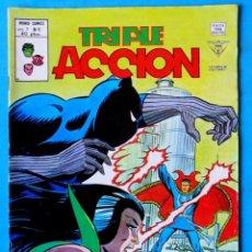Cómics: TRIPLE ACCIÓN - V.1 - Nº 6 - ¡ CONTRA PANTERA MANTIS ! - VÉRTICE 1979 ''BUEN ESTADO'' . Lote 194333461