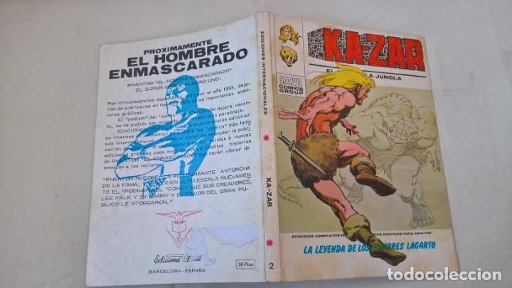 COMIC: KA-ZAR Nº 2. LA LEYENDA DE LOS HOMBRES LAGARTO (Tebeos y Comics - Vértice - Otros)