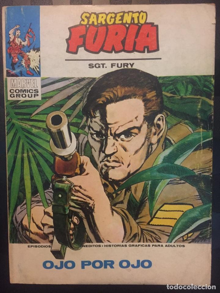 SARGENTO FURIA VOL.1 N.9 OJO POR OJO . SGT. FURY . EDICIONES INTERNACIONALES . ( 1972/1974 ). (Tebeos y Comics - Vértice - Furia)