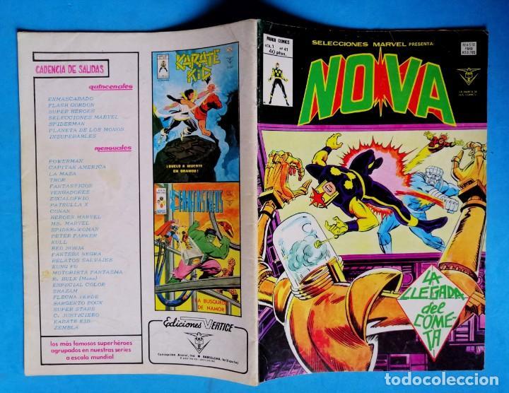 Cómics: NOVA VOL.1 Nº 41 - LA LLEGADA DEL COMETA - VÉRTICE 1978 - Foto 2 - 194711091