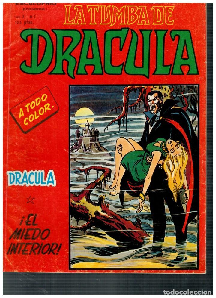 ESCALOFRÍO -LA TUMBA DE DRÁCULA V.2- Nº 1. VÉRTICE 1981. (Tebeos y Comics - Vértice - Terror)