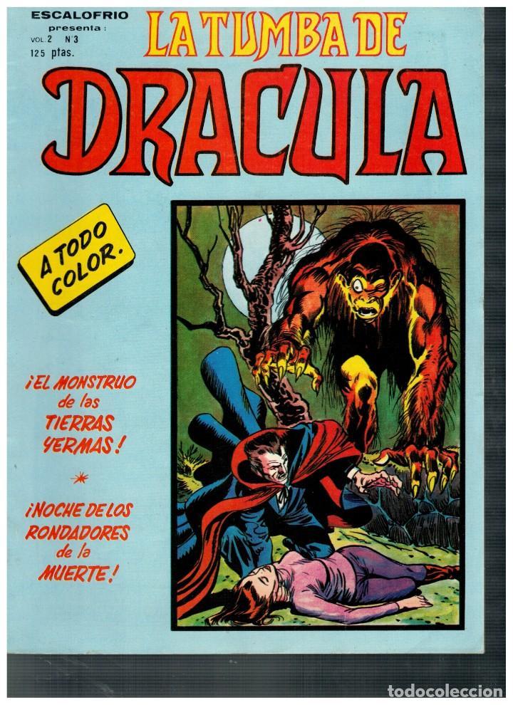 ESCALOFRÍO -LA TUMBA DE DRÁCULA V.2- Nº 3. VÉRTICE 1981. (Tebeos y Comics - Vértice - Terror)