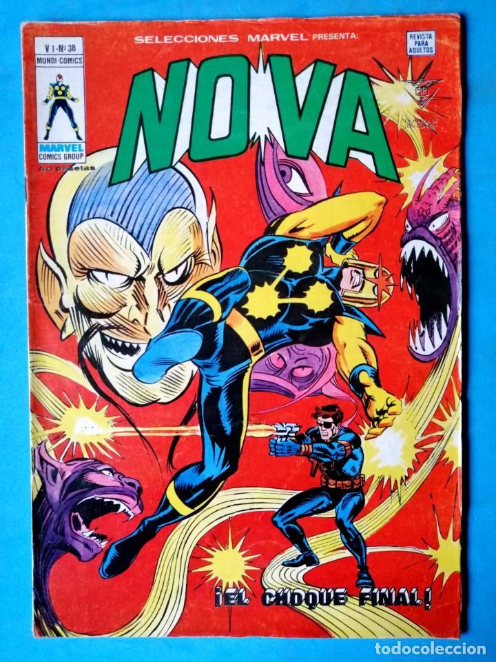 NOVA VOL.1 Nº 38 ¡ EL CHOQUE FINAL ! - VÉRTICE 1978 (Tebeos y Comics - Vértice - Otros)