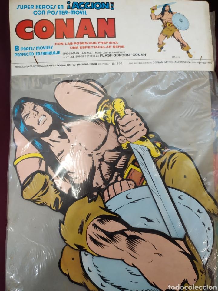 CONAN. SUPERHÉROES EN ACCIÓN, CON POSTER MÓVIL. EDICIONES VERTICE. 1980 (Tebeos y Comics - Vértice - Conan)