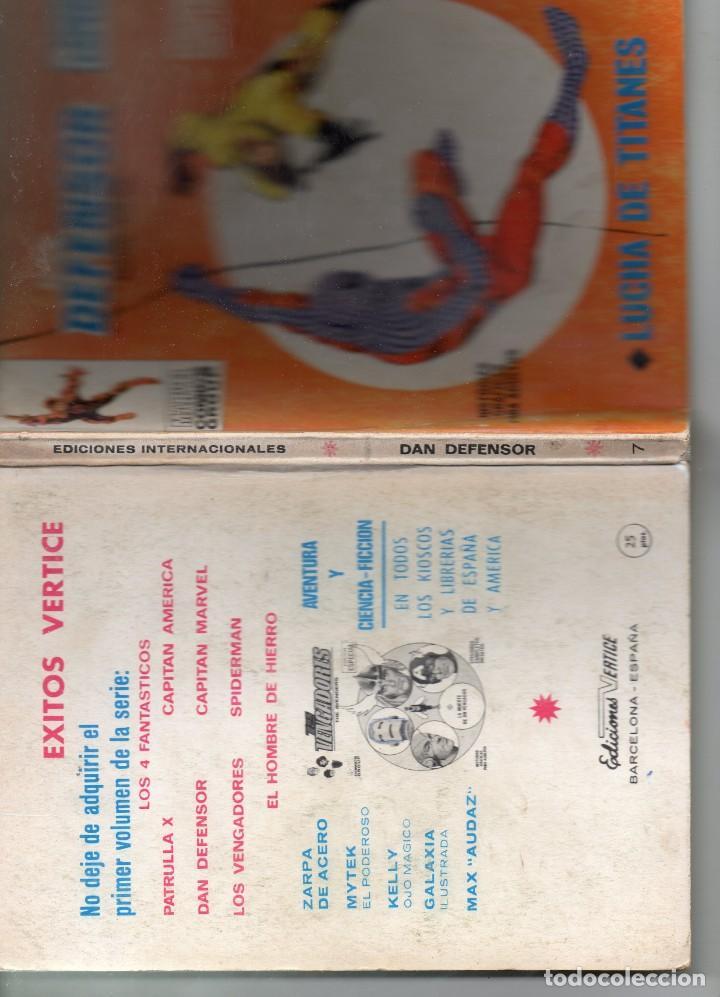 Cómics: COMIC VERTICE 1970 DAN DEFENSOR VOL1 Nº 7 ( BUEN ESTADO ) - Foto 3 - 194910267