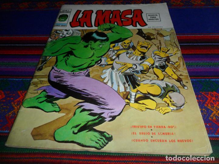 VÉRTICE VOL. 2 LA MASA Nº 3. 1974. 30 PTS. TRIUNFO EN TIERRA-DOS. BUEN ESTADO Y DIFÍCIL. (Tebeos y Comics - Vértice - La Masa)