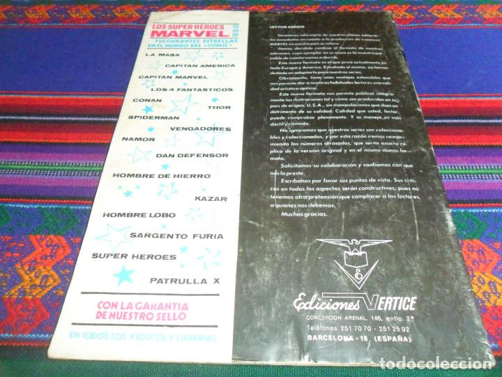 Cómics: VÉRTICE VOL. 2 LA MASA Nº 3. 1974. 30 PTS. TRIUNFO EN TIERRA-DOS. BUEN ESTADO Y DIFÍCIL. - Foto 3 - 194950348