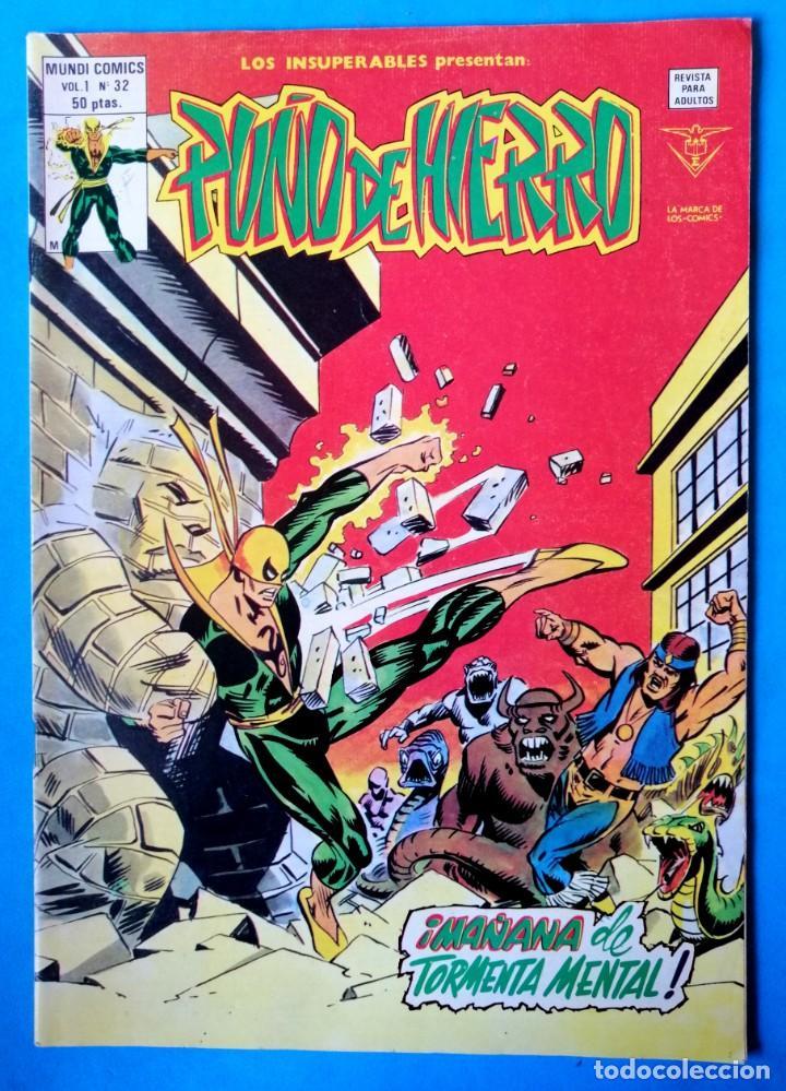 PUÑO DE HIERRO VOL.1 Nº 32 - ¡MAÑANA DE TORMENTA MENTAL ! ''MUY BUEN ESTADO'' (Tebeos y Comics - Vértice - Surco / Mundi-Comic)