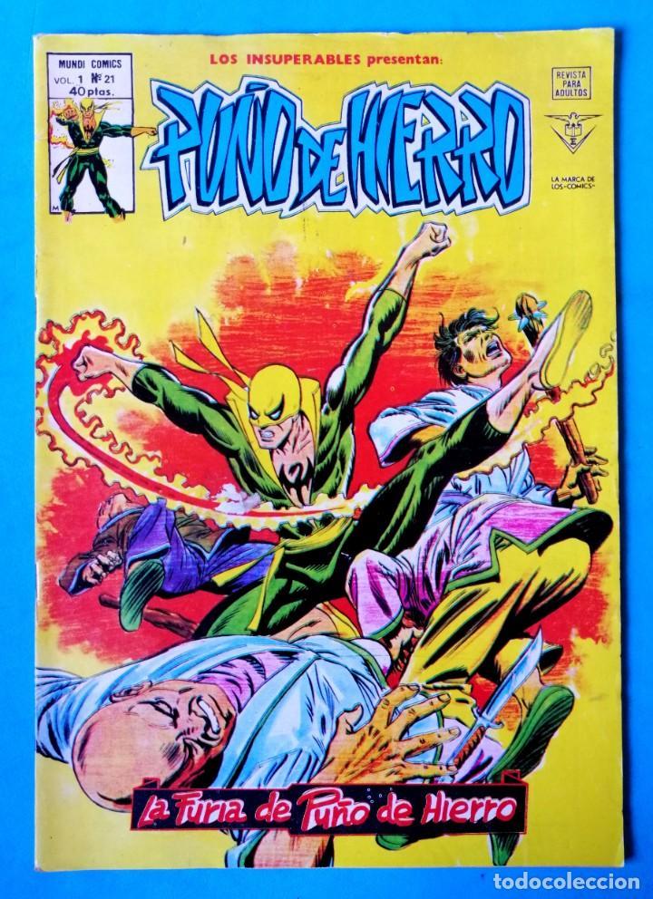PUÑO DE HIERRO VOL.1 Nº 21 - LA FURIA DE PUÑO DE HIERRO ''BUEN ESTADO'' (Tebeos y Comics - Vértice - Surco / Mundi-Comic)