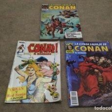 Cómics: LOTE DE 3 CÓMICS CONAN N° 50 Y 130 Y 167.. Lote 195043976