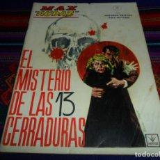Cómics: VÉRTICE GRAPA MAX AUDAZ Nº 11. 10 PTS. 1965. EL MISTERIO DE LAS 13 CERRADURAS.. Lote 195156683