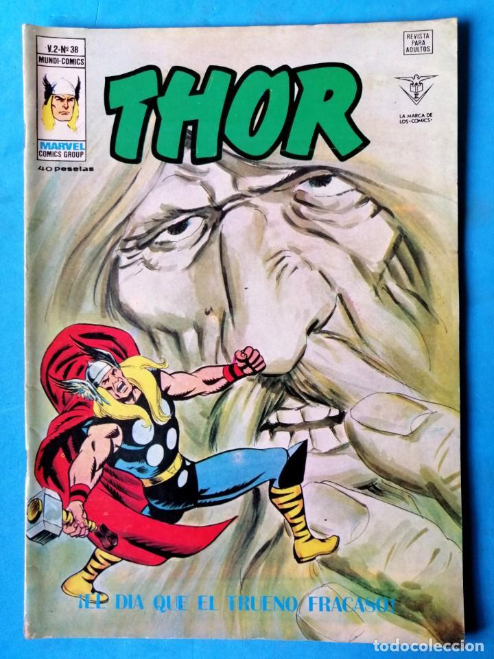 THOR - VOL. 2 Nº 38 - ¡ EL DÍA QUE EL TRUENO FRACASÓ ! - VÉRTICE ''BUEN ESTADO'' (Tebeos y Comics - Vértice - Thor)