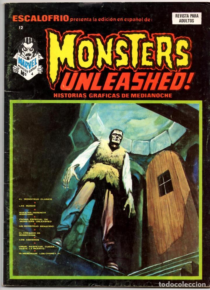 ESCALOFRIO Nº 12 (VERTICE 1974) MONSTERS UNLEASHED Nº 4 (Tebeos y Comics - Vértice - Terror)