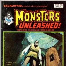 Cómics: ESCALOFRIO Nº 12 (VERTICE 1974) MONSTERS UNLEASHED Nº 4. Lote 195990156