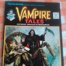 Cómics: ESCALOFRIO Nº 10 (VERTICE 1974) VAMPIRE TALES Nº 2. Lote 195990443