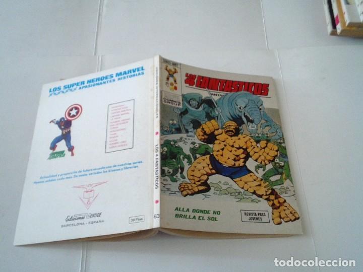 Cómics: LOS 4 FANTASTICOS - VERTICE - VOLUMEN 1 - NUMERO 63 - BUEN ESTADO - CJ 113 - GORBAUD - Foto 5 - 196727545