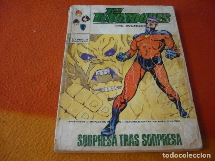 LOS VENGADORES VERTICE TACO VOL. 1 Nº 43 SORPRESA TRAS SORPRESA 1972 (Tebeos y Comics - Vértice - Vengadores)