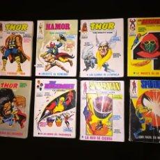 Comics : CONJUNTO DE 8 COMICS DE LA ED. VÉRTICE, 1969. THOR, NAMOR, LOS 4 FANTASTICOS, VENGADORES, SPIDERMAN. Lote 196959958