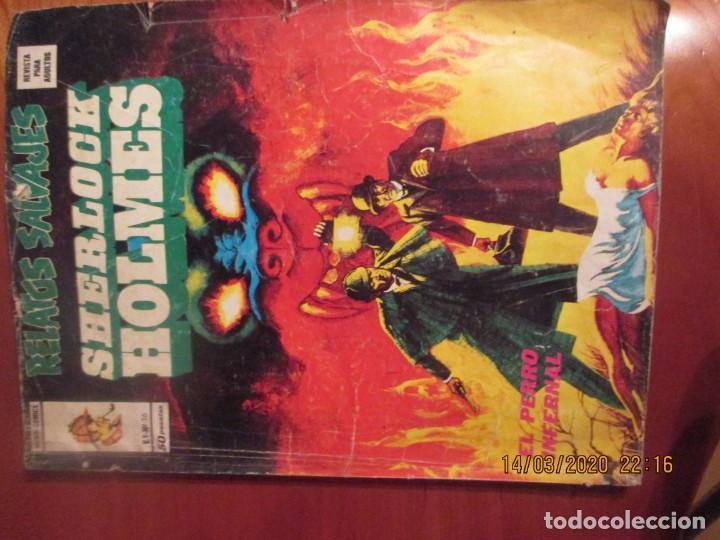 RELATOS SALVAJES. SHERLOCK HOLMES. EL PERRO INFERNAL. EDICIONES VERTICE. Nº 36. 1974. (Tebeos y Comics - Vértice - Surco / Mundi-Comic)