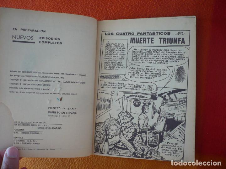 Cómics: LOS 4 FANTASTICOS VERTICE TACO VOL. 1 Nº 29 MUERTE TRIUNFA 1969 - Foto 4 - 197188557