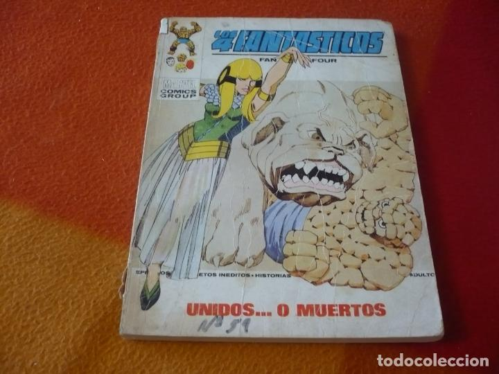 LOS 4 FANTASTICOS VERTICE TACO VOL. 1 Nº 59 UNIDOS O MUERTOS 1973 (Tebeos y Comics - Vértice - 4 Fantásticos)