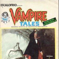 Cómics: ESCALOFRIO NUMERO 1. VAMPIRE TALES. VERTICE. MUY BUEN ESTADO. Lote 197321867