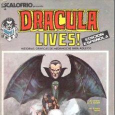Cómics: ESCALOFRIO NUMERO 4 . DRACULA LIVES. VERTICE. MUY BUEN ESTADO. Lote 197322927
