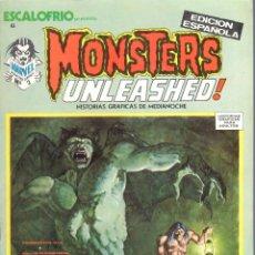 Cómics: ESCALOFRIO NUMERO 6 . MONSTERS UNLEASHED. VERTICE. MUY BUEN ESTADO. Lote 197323133