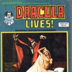 Cómics: ESCALOFRIO NUMERO 7 DRACULA LIVES. VERTICE. MUY BUEN ESTADO. Lote 197323218