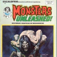 Cómics: ESCALOFRIO NUMERO 9 MONSTERS UNLEASHED. VERTICE. MUY BUEN ESTADO. Lote 197323401