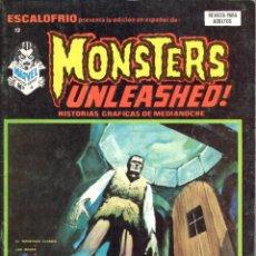 Cómics: ESCALOFRIO NUMERO 12 MONSTERS UNLEASHED. VERTICE. MUY BUEN ESTADO. Lote 197323947