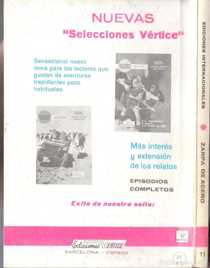 Cómics: ZARPA DE ACERO EXTRA NUMERO 11. VERTICE . MUY BUEN ESTADO - Foto 2 - 197409068