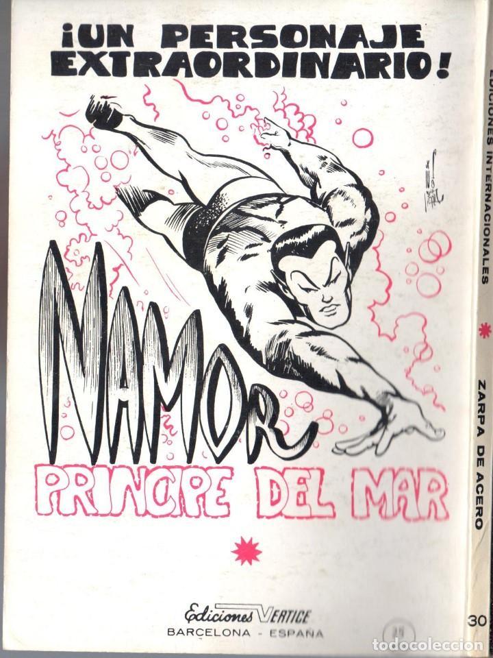 Cómics: ZARPA DE ACERO EXTRA NUMERO 30. VERTICE .MUY BUEN ESTADO - Foto 2 - 197411788