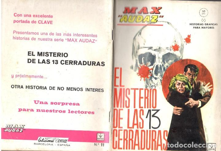 MAX AUDAZ GRAPA NUMERO 11 VERTICE. (Tebeos y Comics - Vértice - Fleetway)