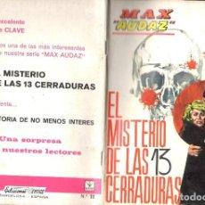 Cómics: MAX AUDAZ GRAPA NUMERO 11 VERTICE.. Lote 197416371