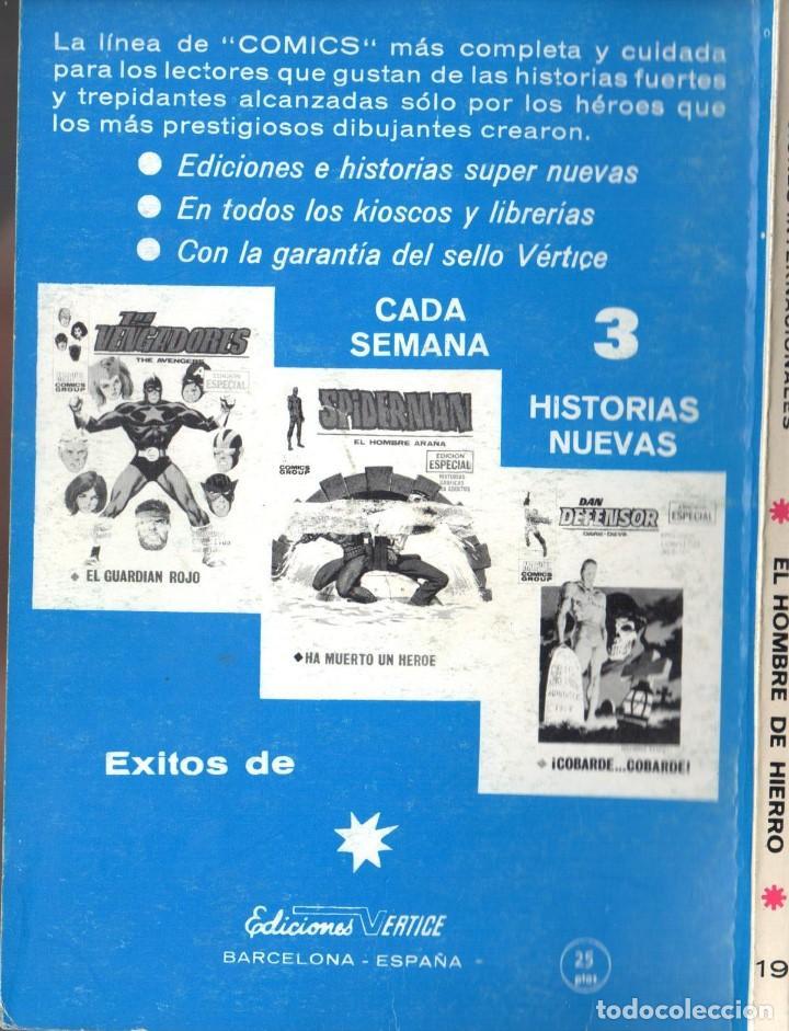 Cómics: EL HOMBRE DE HIERRO VOLUMEN 1 NUMERO 19. VERTICE. IRON MAN - Foto 2 - 197478102