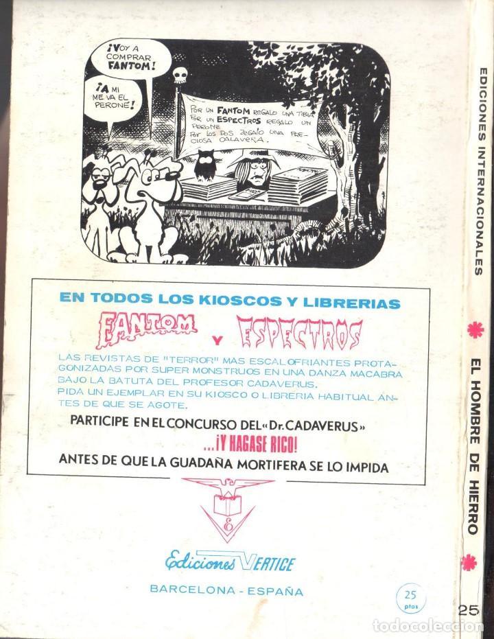 Cómics: EL HOMBRE DE HIERRO VOLUMEN 1 NUMERO 25. VERTICE. IRON MAN - Foto 2 - 197478196
