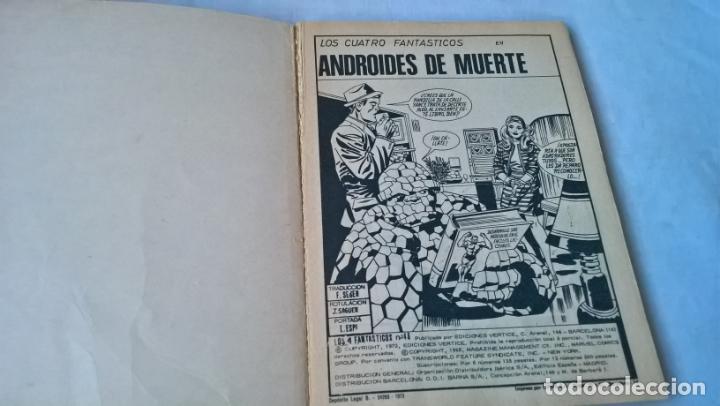 Cómics: COMIC vertice: LOS 4 FANTASTICOS Nº 48. ANDROIDES DE MUERTE - Foto 2 - 197483131