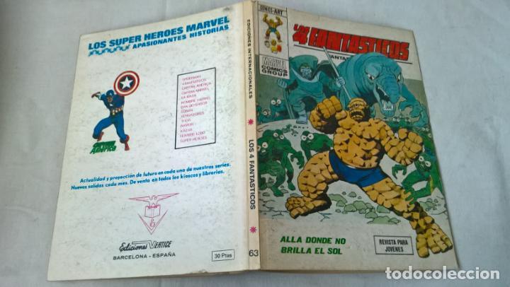 COMIC VERTICE: LOS 4 FANTASTICOS Nº 63. ALLA DONDE NO BRILLA EL SOL (Tebeos y Comics - Vértice - 4 Fantásticos)