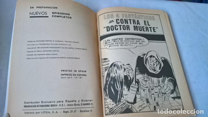 Cómics: COMIC vertice: LOS 4 FANTASTICOS Nº 3. CONTRA EL DOCTOR MUERTE - Foto 2 - 197486341