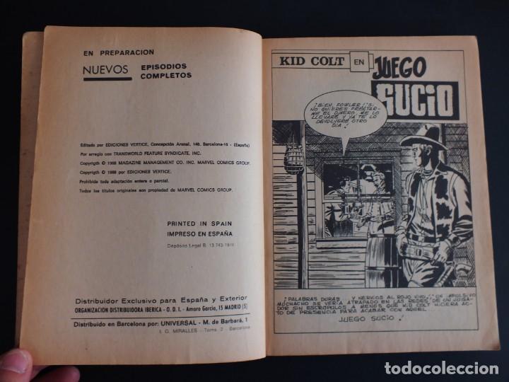 Cómics: KID COLT Nº 4 EDITORIAL VERTICE - Foto 2 - 197618453