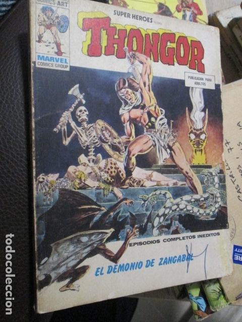 VÉRTICE VOL. 1 SUPER HÉROES 9 THONGOR. 1974. 30 PTS. BUEN ESTADO Y COMPLETO (Tebeos y Comics - Vértice - Super Héroes)