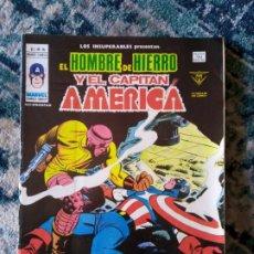 Cómics: LOS INSUPERABLES VOL 1 NÚM 16. HOMBRE DE HIERRO Y CAPITÁN AMÉRICA. VÉRTICE. Lote 198089305