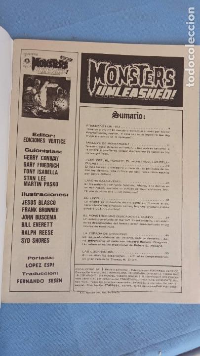Cómics: MONSTERS UNLEASHED Nº 2 - ESCALOFRIO Nº 6 - COMO NUEVO - JOHN BUSCEMA, JESÚS BLASO, BRUNNER ETC - Foto 3 - 198374032