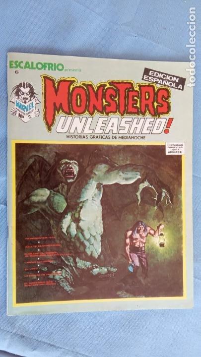 MONSTERS UNLEASHED Nº 2 - ESCALOFRIO Nº 6 - COMO NUEVO - JOHN BUSCEMA, JESÚS BLASO, BRUNNER ETC (Tebeos y Comics - Vértice - Otros)