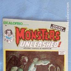 Cómics: MONSTERS UNLEASHED Nº 2 - ESCALOFRIO Nº 6 - COMO NUEVO - JOHN BUSCEMA, JESÚS BLASO, BRUNNER ETC. Lote 198374032
