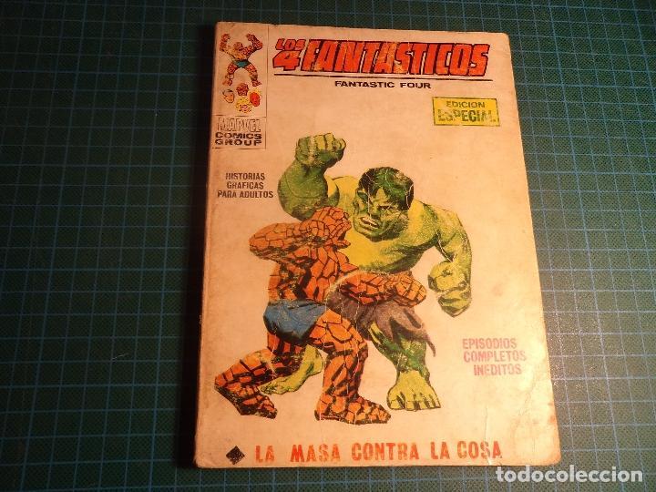 LOS 4 FANTASTICOS. Nº 3. COMPLETO PERO CASTIGADO. FALTA LA HOJA DE PRESENTACION. (T-3) (Tebeos y Comics - Vértice - V.1)